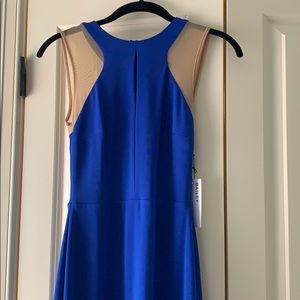 Blue dress with nude mesh NWT